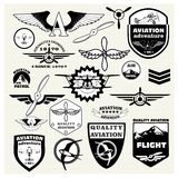 题材航空的单色兆套 库存例证