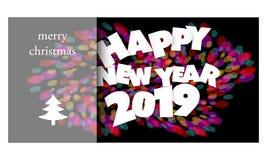 题目的传染媒介概念:新年 库存例证