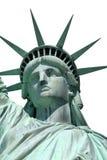 题头查出的自由雕象 免版税库存照片