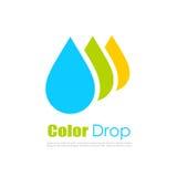 颜色下落传染媒介商标 库存图片