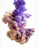 颜色下落 百合,金子,紫罗兰色 免版税库存照片