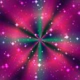 颜色不可思议的圆环光芒 免版税库存照片