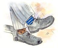 颜色不同的袜子 皇族释放例证
