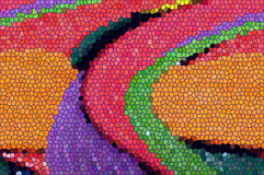 颜色不规则的长方形马赛克背景 库存照片