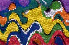 颜色不规则的长方形马赛克背景 免版税图库摄影