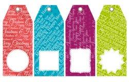 颜色与销售的圣诞节标签提供,导航 库存例证