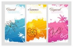 颜色与飞溅的夏天集合 免版税图库摄影