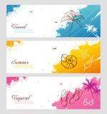 颜色与飞溅的夏天集合 免版税库存图片