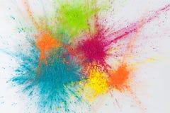 颜色与holi粉末的爆炸概念 图库摄影
