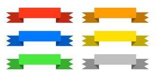 颜色丝带设置了象 库存例证