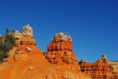 颜色临近红色峡谷,犹他 图库摄影