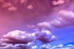 颜色云彩 库存照片