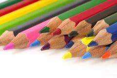 颜色五颜六色的铅笔 免版税图库摄影