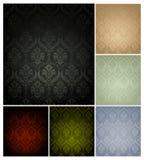 颜色仿造无缝的集六墙纸 免版税图库摄影