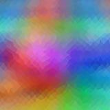 颜色低多三角样式传染媒介马赛克 库存图片