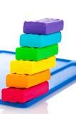 颜色儿童的彩色塑泥 免版税图库摄影