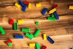 颜色儿童` s成套工具meccano 免版税图库摄影