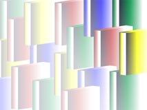 颜色充分的长方形退色背景 库存例证