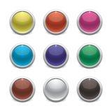 颜色光滑的按钮 库存图片