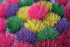 颜色党在越南香火的 免版税库存照片