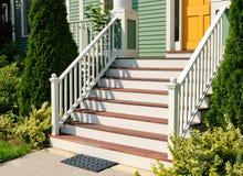 颜色入口房子符合 免版税库存图片