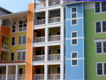 颜色公寓房 库存照片