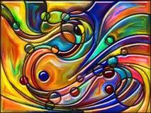 颜色共同作用  免版税库存照片