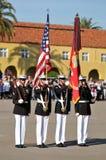 颜色军团卫兵海军陆战队员 免版税库存照片