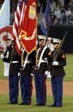 颜色军团卫兵海军陆战队员 库存图片