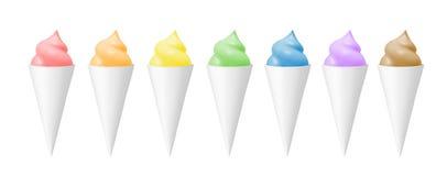 颜色冰淇凌集合 库存例证