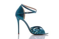 颜色凉鞋为光滑的夏天 图库摄影