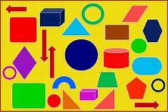 颜色几何形象和数字 例证,背景 库存例证