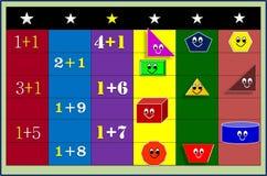 颜色几何形象和数字 例证,背景 向量例证