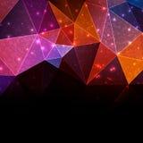 颜色几何模板 免版税库存照片