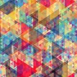 颜色几何背景 库存例证