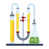 颜色化学制品实验室 库存例证