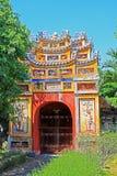 颜色北京皇城,越南联合国科教文组织世界遗产名录 库存图片