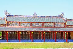 颜色北京皇城,越南联合国科教文组织世界遗产名录 免版税库存图片