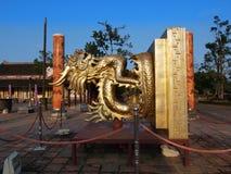 颜色北京皇城(国王封印),颜色,越南。联合国科教文组织世界Herita 库存照片