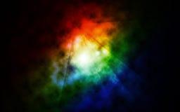 颜色发光空间 免版税库存照片