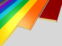 颜色另外面板三明治 免版税图库摄影