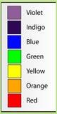 颜色名字 库存图片