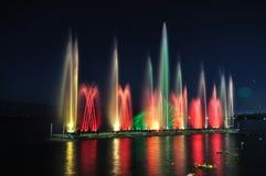 颜色喷泉 库存照片