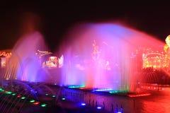 颜色喷泉 库存图片