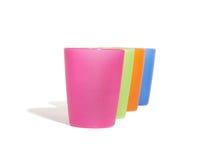 颜色四块玻璃 免版税库存图片