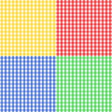 颜色四无缝方格花布的模式 库存图片