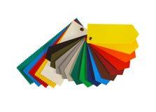 颜色图表其中一最普遍的广告媒介:PVC涂上了横幅 免版税库存图片