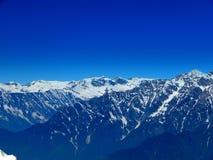 颜色图画现有量喜马拉雅山水 免版税库存照片