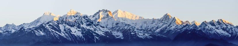 颜色图画现有量喜马拉雅山水 图库摄影