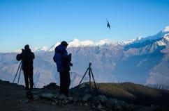 颜色图画现有量喜马拉雅山水 库存图片